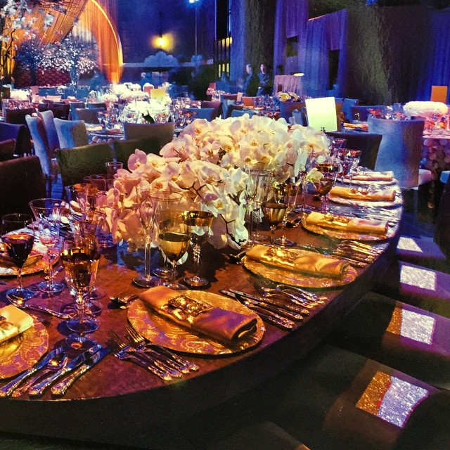 A beautiful table set for a spectacular event #tabletoptuesday #glam #eaw #tablescapetuesday #orchids #settoimpress