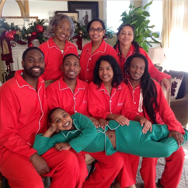 TBT: Holiday Tip #44 Be Consistent and have fun-At it again Christmas Eve Slumber Party! #ohnopajamasagain #creativewaysofentertaining #throwbackholiday #christmas #christmascard #pajamagram #familyfun #creatememories #dontforgettohaveallthingsembroidered #howmanypairofpj'sdotheyhave #pjs