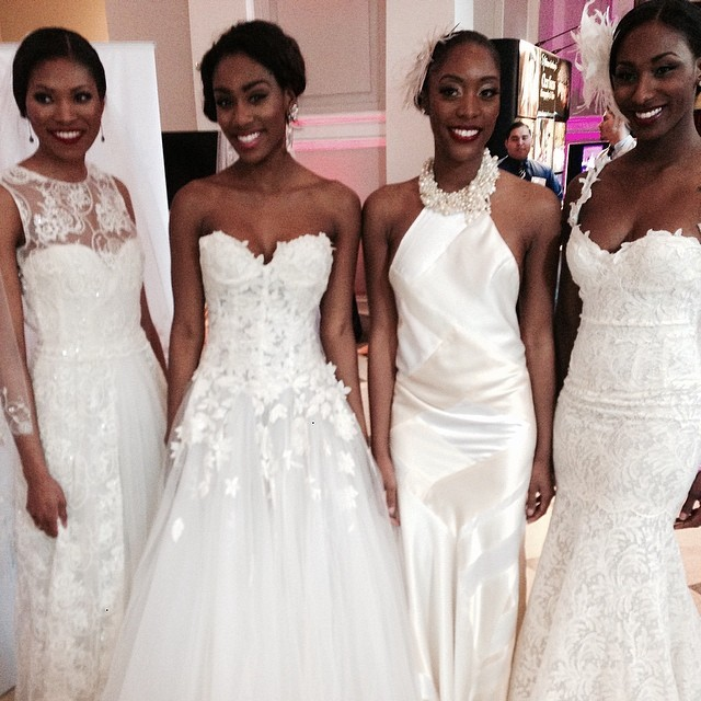 Had a wonderful time as a guest panelist at BlackBride.com hanging out with these beautiful ladies decked out in gowns from Soliloquy Bridal Couture #weddings #brides #springisintheair #beautiful #eaw #weddingpros #delightful #models