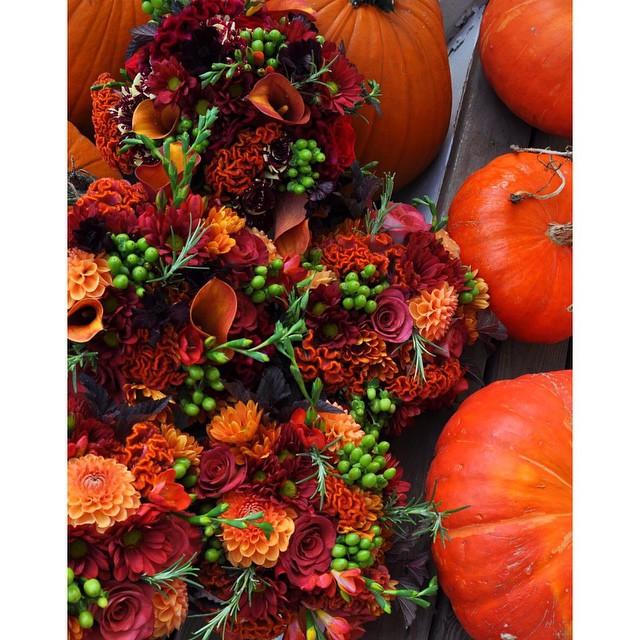 Loving these festive autumn florals #itsfallagain #nowthisisafloralarramgement #fallflorals #eventdesigner #andrewells #autumn #falldecor #creative #details