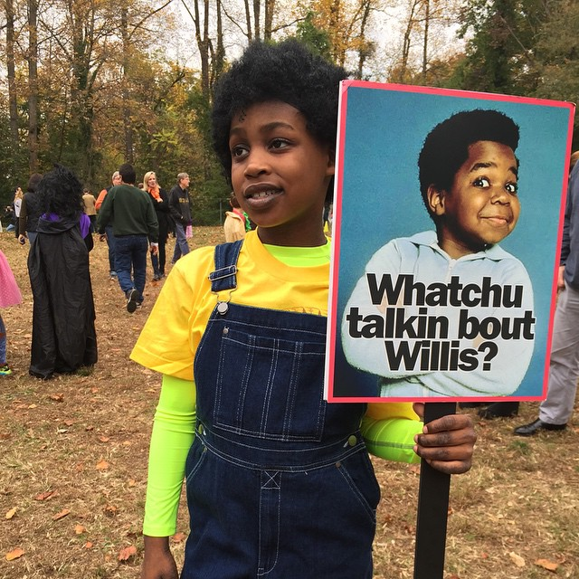 It takes Different Strokes for Different Folks to rule the world!  I give you Arnold Jackson Drummond!!!!! #halloween #eaw #whatchutalkingboutwillis #arnold #differentstrokes #fun #1980s #sitcom #nyc