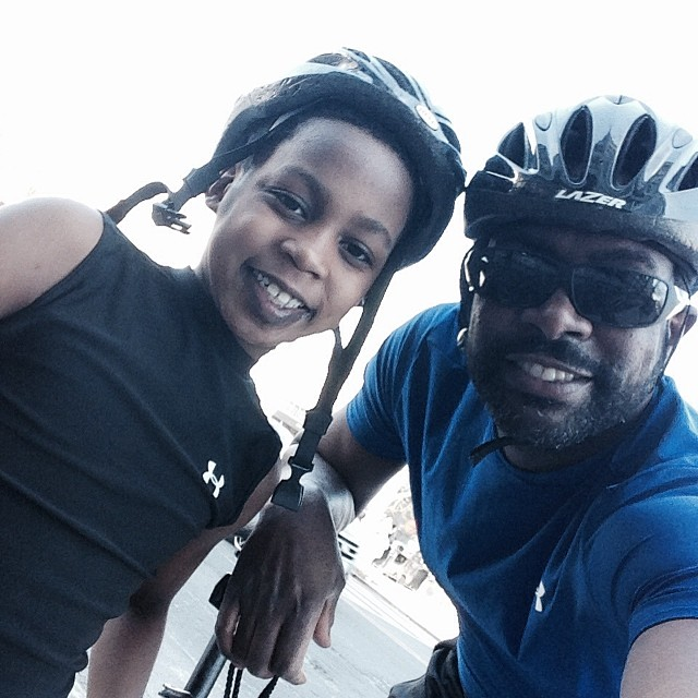 Father and Son day bike ride-exploring Washington, DC #love #favorite #fuji #bicycle #14thstreet #dclove #dc #wdc #underarmour #fun #eaw #tedsbulletin