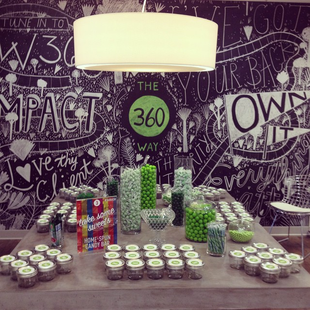 Indulging our sweet tooth at 360 Live Media. Who doesn't like a candy bar at an office launch party!? Congrats @360livemedia on a successful evening! We had so much fun working with you all! #360Bash #eventsbyandrewells #360livemedia #EAWdesign #eventplanners #officelaunch #party #greeneverything #sweettooth #candybar #whodoesntlovecandy