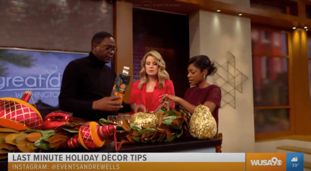 Last Minute Holiday Décor Ideas With André Wells