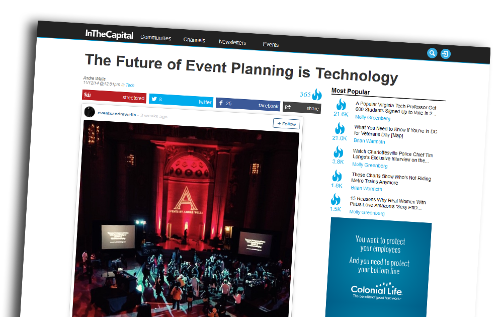 The Future Of Event Planning Is Technology